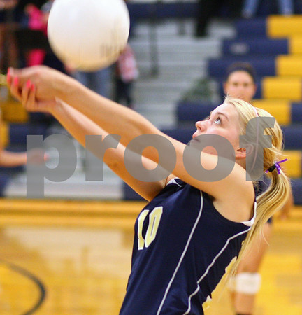 Kyle Bursaw – kbursaw@shawmedia.com<br /> <br /> Hiawatha's Savanna Campbell keeps the ball in play during the second game of Hiawatha's victory over Christian Liberty Academy in Kirkland, Ill. on Monday, Sept. 17, 2012