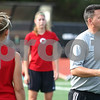 Kyle Bursaw – kbursaw@shawmedia.com<br /> <br /> John Ross, Northern Illinois University's women's soccer coach, instructs his players at practice on Tuesday, Sept. 25, 2012.