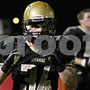 Rob Winner – rwinner@shawmedia.com<br /> <br /> Sycamore's Jack Dargis reacts on the sideline after making an interception to start the second quarter in Sycamore Friday, Sept. 28, 2012.
