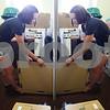 Kyle Bursaw - kbursaw@shawmedia.com<br /> <br /> Sophomore art major Amy Henkel unpacks her room in New Residence Hall East on Thursday, Aug. 23, 2012.