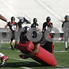 Rob Winner – rwinner@shawmedia.com<br /> <br /> Northern Illinois defensive end Matthew Baltimore participates in a tackling drill during practice at Huskie Stadium in DeKalb, Ill., Friday, March 29, 2013.