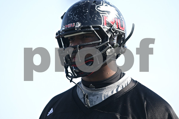 Rob Winner – rwinner@shawmedia.com<br /> <br /> Northern Illinois defensive tackle Corey Thomas during practice at Huskie Stadium in DeKalb, Ill., Friday, March 29, 2013.