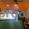 Rob Winner – rwinner@shawmedia.com<br /> <br /> John Rey (second from right) watches election results come in with members of his family including his wife, Marjorie (right), and son, Dan (second from left), and daughter-in-law, Eva, at Eduardo's Mexican Restaurant in DeKalb, Ill., Tuesday, April 9, 2013.