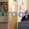 Erik Anderson - For the Daily Chronicle <br /> Election Judge Rene Donnelly transfers a voting machine to the DeKalb County Legislative Building from the Administration Building for the April 9th Elections while in Sycamore on Saturday, April 6, 2013.