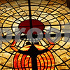 Rob Winner – rwinner@shawmedia.com<br /> <br /> The stained glass window featuring a scarab and the sun god Ra is seen from the second inside the Egyptian Theatre in DeKalb, Ill., Thursday, April 11, 2013.