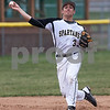 Erik Anderson - For the Daily Chronicle <br /> Sycamore's Alec Kozac picks up a grounder and throws to first base during mid gameplay action of the match up of Sycamore and Morris at the Sycamore Park District baseball fields on Monday, April 15, 2013.