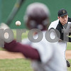 Erik Anderson - For the Daily Chronicle <br /> Sycamore's Scott Nelson pitches to Morris batter Austin Conrod during early gameplay action of the match up of Sycamore and Morris at the Sycamore Park District baseball fields on Monday, April 15, 2013.
