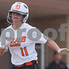Erik Anderson - For the Daily Chronicle <br /> Dekalb's Sabrina Killeen sprints to home base to score during early gameplay action as DeKalb hosted Yorkville at DeKalb High School on Tuesday, April 16, 2013. Yorkville defeated DeKalb 3-2.