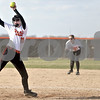 Monica Maschak - mmaschak@shawmedia.com<br /> DeKalb's Morgan Newport winds up on a pitch during a game against Kaneland at DeKalb High School on Thursday, April 25, 2013. The Knights beat the Barbs 4-3.