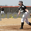 Monica Maschak - mmaschak@shawmedia.com<br /> Kaneland's Ellissa Eckert releases a pitch during a game at DeKalb High School on Thursday, April 25, 2013. The Knights beat the Barbs 4-3.