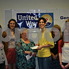 Stephanie Hickman - shickman@shawmedia.com<br /> <br /> Pattie Marx of Genoa-Kingston United Way, along with its youth board, present Angelina Shaulis of Hope Haven with a check Monday at Genoa-Kingston High School. From left to right: Nick Barthel, Katlin Schambach, Andrea Strohmaier, Pattie Marx, Angelina Shaulis, Christi Volkening, Rachel Gathman, Anne Hulsey and Emma Villella.