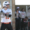 Monica Maschak - mmaschak@shawmedia.com<br /> DeKalb's Sarah Friedlund at bat during a game against Kaneland at DeKalb High School on Thursday, April 25, 2013. The Knights beat the Barbs 4-3.