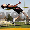 Monica Maschak - mmaschak@shawmedia.com<br /> Sycamore's Logan Wright clears a height of 6-1 at the Sycamore Gib Seegers Classic for boys track and field on Friday, April 26, 2013.
