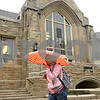 Rob Winner – rwinner@shawmedia.com<br /> <br /> Northern Illinois University student Jamece Young tries to keep dry during a rainstorm while passing Swen Parson Hall on her way to Faraday Hall for class on Wednesday, April 17, 2013 on the NIU campus in DeKalb, Ill.