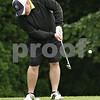 Rob Winner – rwinner@shawmedia.com<br /> <br /> Jim Ferguson of Western Springs chips a ball on to the eighth hole green at the Kishwaukee Country Club in DeKalb, Ill., Friday, July 26, 2013.