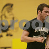 Rob Winner – rwinner@shawmedia.com<br /> <br /> Sycamore senior Kyle Akins jogs in the wrestling room at Sycamore High School on Wednesday morning. Akins finished third at a national tournament over the summer in Fargo, N.D., gaining All-American accolades.<br /> <br /> Sycamore, Ill.<br /> Wednesday, July 31, 2013