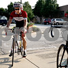 Monica Maschak - mmaschak@shawmedia.com<br /> Dave Smith, a cyclist with the non-profit Axletree group, arrives to meet fellow cyclists behind North Central Cyclery before taking off on a 34-mile bike ride southwest of DeKalb on Wednesday, July 31, 2013.