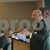 Rob Winner – rwinner@shawmedia.com<br /> <br /> Mayor John Rey speaks during the state of the city meeting on Thursday morning at the Hopkins Park Community Center in DeKalb, Ill.