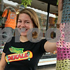 Rob Winner – rwinner@shawmedia.com<br /> <br /> Ariel Ries owner of Smalltown Skateboard Shop in DeKalb poses next to a tree covering that she created last winter.<br /> <br /> Tuesday, July 30, 2013