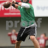 Rob Winner – rwinner@shawmedia.com<br /> <br /> Quarterback Jordan Lynch looks to pass during the first practice of the season at Northern Illinois University in DeKalb, Ill., Monday, Aug. 5, 2013.