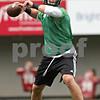 Rob Winner – rwinner@shawmedia.com<br /> <br /> Quarterback Jordan Lynch looks to pass during the first practice of the season at Northern Illinois University in DeKalb, Ill., Monday, Aug. 5, 2013.