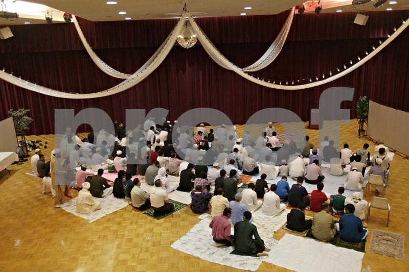 Rob Winner – rwinner@shawmedia.com<br /> <br /> Members of the Islamic Society of Northern Illinois University observe Eid al-Fitr marking the end of Ramadan at the Duke Ellington Ballroom on the campus of NIU in DeKalb, Ill., Thursday, Aug. 8, 2013.