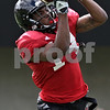 Rob Winner – rwinner@shawmedia.com<br /> <br /> Northern Illinois wide receiver Aregeros Turner makes a catch during practice at Huskie Stadium in DeKalb, Ill., Tuesday, Aug. 13, 2013.