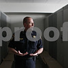 Rob Winner – rwinner@shawmedia.com<br /> <br /> Chief Gene Lowery shows the locker rooms at the new DeKalb police station located on Lincoln Highway on Monday, Aug. 12, 2013.