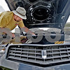 Monica Maschak - mmaschak@shawmedia.com<br /> Ed Aldis, of Cortland, details the engine bay of his 1979 Chevy Camaro at the Cortland Summer Fest on Saturday, August 10, 2013.