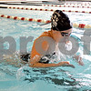 Monica Maschak - mmaschak@shawmedia.com<br /> Sophomore Alexa Miller comes up for a breath in the breaststroke during a DeKalb-Sycamore co-op swim team practice on Friday, August 16, 2013.