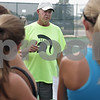 Rob Winner – rwinner@shawmedia.com<br /> <br /> Sycamore tennis coach Dave Hillmer talks to his players during practice in Sycamore, Ill., Tuesday, Aug. 20, 2013.