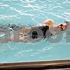 Monica Maschak - mmaschak@shawmedia.com<br /> Sophomore Bailey Flemming glides in her backstroke during a DeKalb-Sycamore co-op swim team practice on Friday, August 16, 2013.