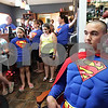Monica Maschak - mmaschak@shawmedia.com<br /> A crowd of Dylan Carey supporters watched as Carey's idol, Superman, got his head shaved in support of his fan at Q Salon and Quinn's Grooming Parlour in Shabbona on Saturday, August 17, 2013. Dylan was diagnosed with neuroblastoma last month. All proceeds from the fundraiser went to the Carey family to help cover medical expenses.