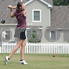 Monica Maschak - mmaschak@shawmedia.com<br /> Senior Andrea Strohmaier watches the path of her ball after teeing off during golf practice at Oak Country Club on Tuesday, August 20, 2013. Last year, the Genoa-Kingston girls won their regional championship.