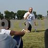 Rob Winner – rwinner@shawmedia.com<br /> <br /> Hinckley-Big Rock soccer coach Paul Taeuber talks to his player between drills during practice in Hinckley on Tuesday, Aug. 20, 2013.