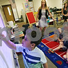 Rob Winner – rwinner@shawmedia.com<br /> <br /> Vincent Tripoli, 5, uses a smart board to describe the weather during his kindergarten class at Southeast Elementary School in Sycamore on Wednesday, Aug. 28, 2013.
