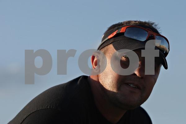 Rob Winner – rwinner@shawmedia.com<br /> <br /> DeKalb coach Matt Weckler during the first day of practice on Wednesday, Aug. 14, 2013.