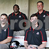 Rob Winner – rwinner@shawmedia.com<br /> <br /> (From left to right) Brett Diersen, Thad Ward, Kevin Kane, and Bob Cole<br /> NIU Football tab<br /> <br /> Wednesday, Aug. 7, 2013<br /> DeKalb, Ill.