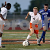 Monica Maschak - mmaschak@shawmedia.com<br /> Forward Skyler Weishaar gains yards to the goal during a Barb Cup match against Burlington at DeKalb High School on Wednesday, August 28, 2013. The Barbs won 4-1.