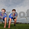 Monica Maschak - mmaschak@shawmedia.com<br /> Genoa-Kingston Defensive Linemen Connor Bankson (left) and Kevin McIntyre.