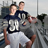 Monica Maschak - mmaschak@shawmedia.com<br /> Hiawatha Freshman cornerback and wide receiver Eric Letterer and his brother, junior linebacker and fullback Allen Letterer.