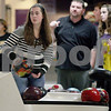 Monica Maschak - mmaschak@shawmedia.com<br /> Sophomore Kelsey Johnston picks up her ball for her turn to bowl during bowling practice at Four Seasons Sports in Sycamore on Tuesday, December 3, 2013.