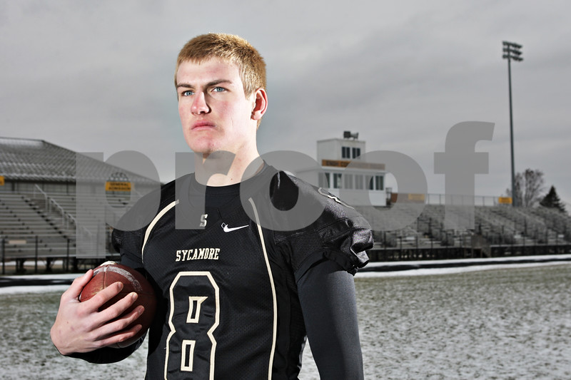 Rob Winner – rwinner@shawmedia.com<br /> <br /> Sycamore's Ben Niemann is the Daily Chronicle's 2013 football player of the year.<br /> <br /> Sycamore, Ill.,<br /> Tuesday, Nov. 26, 2013