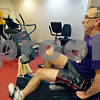 Rob Winner – rwinner@shawmedia.com<br /> <br /> Sycamore resident Rich Barnes works out on a recumbent exercise bike at the Sycamore Park District Community Center on Thursday, Dec. 5, 2013.