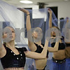 Rob Winner – rwinner@shawmedia.com<br /> <br /> (From front to back) Dancers Alyssa Meier, 14, Carly Ruggeri, 13, Stephanie Routson, 15, and Sonia Gaytan, 14, practice during a rehearsal for the Nutcracker at the Beth Fowler School of Dance in Genoa on Monday, Dec. 2, 2013.