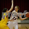 Monica Maschak - mmaschak@shawmedia.com<br /> Josie Diehl protects the ball in the first quarter against Morris at Indian Creek High School on Tuesday, December 10, 2013. The Timberwolves lost, 68-47.