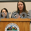 Rob Winner – rwinner@shawmedia.com<br /> <br /> Tara King (right) and Julie Cummings of the Choosing Life and Ending Abuse Now (CLEAN) Slate Alumni Association of DeKalb County Drug/DUI Court speak during the program's eleventh graduation ceremony at the Gathertorium inside the DeKalb County Legislative Building in Sycamore, Ill., Friday, Dec. 6, 2013.