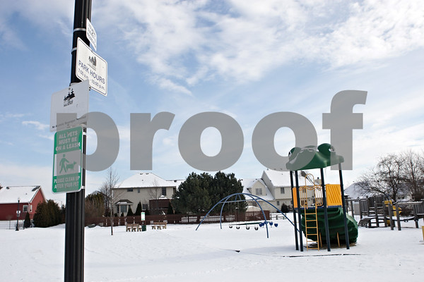 Rob Winner – rwinner@shawmedia.com<br /> <br /> Roberts Park in DeKalb, Ill., is seen on Friday, Dec. 13, 2013. Residents have complained about finding drug paraphernalia  at the park.