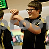 Monica Maschak - mmaschak@shawmedia.com<br /> Sycamore's Alex Burchard gets ready to high five after bowling a strike at a bowling match between DeKalb and Sycamore at Mardi Gras Lanes on Thursday, December 12, 2013.