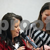 Rob Winner – rwinner@shawmedia.com<br /> <br /> Julie Cummings (left) and Tara King of the Choosing Life and Ending Abuse Now (CLEAN) Slate Alumni Association of DeKalb County Drug/DUI Court speak during the program's eleventh graduation ceremony at the Gathertorium inside the DeKalb County Legislative Building in Sycamore, Ill., Friday, Dec. 6, 2013.